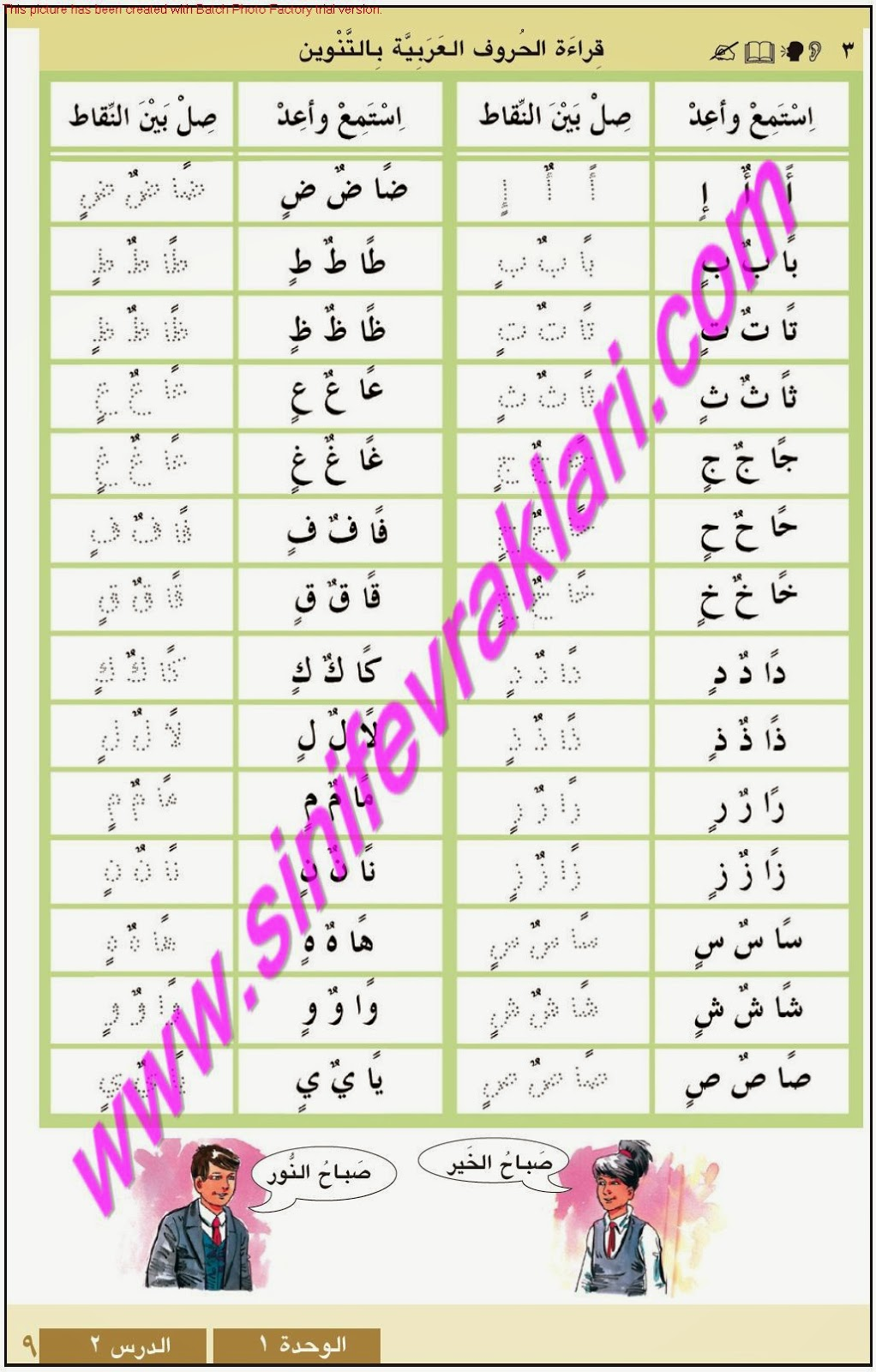 9sınıf Arapça Meb Yayınları Ders Kitabı Cevapları Sayfa 9 çalışma