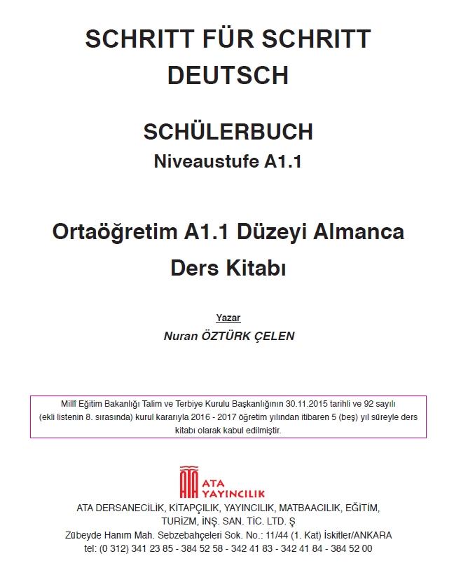9 Sınıf Almanca Niveaustufe A11 çalışma Kitabı Cevapları çalışma